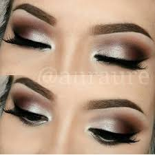 silver brown smokey eye gonna try this with silver shimmer chestnut brown and charcoal black shadows