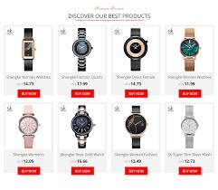 <b>Shengke</b> Elegant Slim <b>Quartz Watch</b> Top Brand Leather <b>Women</b> ...