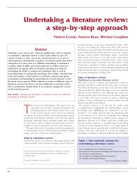 undertaking a literature review a step by step approach pdf undertaking a literature review a step by step approach pdf available