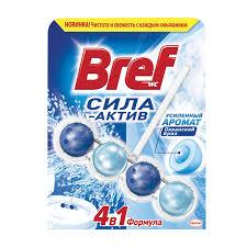 <b>Освежитель</b> WC (для туалета) твердый <b>BREF</b>, 50 г, (<b>Бреф</b>) Сила ...