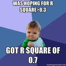 r square success kid meme statistics | The LoveStats Blog via Relatably.com