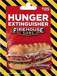 Firehouse Subs $25 Gift Card: Gift Cards - Amazon.com