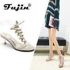 <b>Fujin Brand 2019 Summer</b> PVC Jelly Women Shoes Open Toe High ...