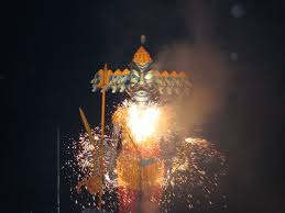 navratri hindi language blog effigy of ravana picture by pete birkinshaw via flickr