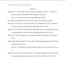 sample reference page apa style   cover letter templatesapa reference frankenstein