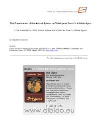 (PDF) The Presentation of the <b>Animal Sphere</b> in Christopher Smart's ...