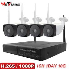 <b>Wetrans</b> CCTV <b>System Wireless</b> Camera <b>Home Security</b> 1080P HD ...