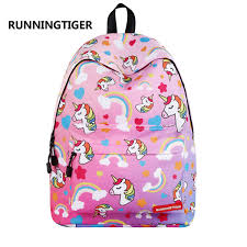 <b>RUNNINGTIGER Cute Unicorn Printing</b> Backpack Women Fashion ...