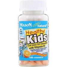 Mason Natural, Healthy Kids <b>Cod Liver Oil Chewable</b> with Vitamin D ...