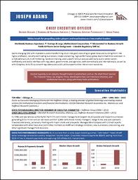 award winning executive resume examplesceo resume example