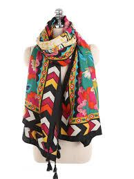 Buy <b>Women's Fashion</b> Warm Scarf <b>Retro Ethnic Style</b> Geometric ...
