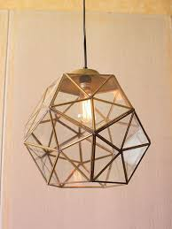 gold glass geometric large pendant light ceiling lighting kitchen contemporary pinterest lamps transparent