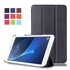 Samsung Tab A6 7inch Case - PU Leather <b>Tri</b>-<b>Fold Stand Cover</b> ...