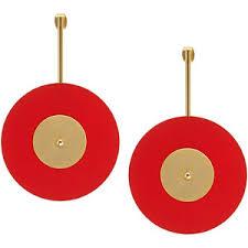 <b>Aloud</b> Золотистые <b>серьги</b> с красно-золотистыми подвесками ...
