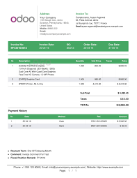 odoo clever multiple invoice templates app openerp invoice footer