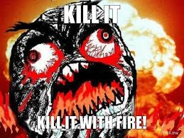 Kill it with fire - Memes Comix Funny Pix via Relatably.com