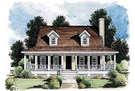 Eplans Farmhouse House Plan   Porch Makes Small Home Look Bigger    Front