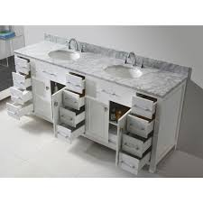 usa caroline estate double sink virtu usa caroline parkway  in w x  in d x  in h vanity cabinet in whi