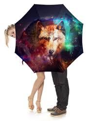 """Зонты c особенными принтами """"волк"""" - купить в интернет ..."""
