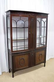 edwardian mahogany bow fronted display cabinet sutton antieks antique pulaski apothecary style