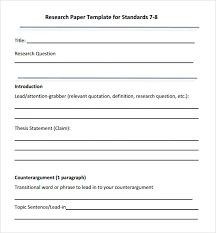 Research Paper Outline Template        Free Word  Excel  PDF Format    Research Paper Outline Template        Free Word  Excel  PDF Format