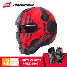 <b>HEROBIKER Motorcycle Helmet</b> Vintage Retro Cruiser Chopper ...