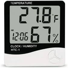 Generic <b>HTC</b>-<b>1</b> Digital <b>LCD</b> Electronic Alarm Clock Hygrometer ...