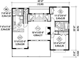 Simple House Plan   Stunning Views   PM   st Floor Master    Floor Plan