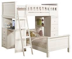 safe functional white youth twin storage loft bunk bed drawers study desk hutch contemporary bunk bunk beds desk drawers bunk