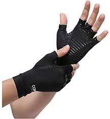 1 Pair Womens Mens <b>Copper Fiber</b> Therapy <b>Compression</b> Gloves ...