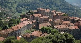 photo of the town of sainte lucie de tallano mela aglise saint lucien de