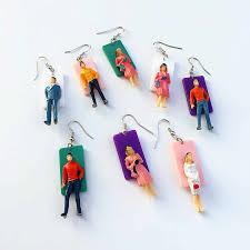 Handmade Asymmetric Humanoid Villain Drop Earrings <b>Acrylic</b> Cute ...