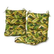 Greendale Home Fashions 2-Piece Palm <b>Green High Back</b> Patio ...