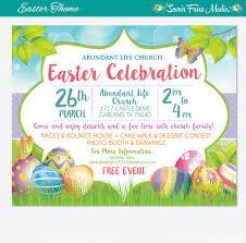 easter egg hunt flyer invitation poster template church 128270zoom