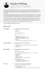 film resume samples   visualcv resume samples databasefilm editor  amp  sound designer resume samples