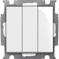 <b>Выключатель трехклавишный ABB Basic 55</b>, альпийский белый ...