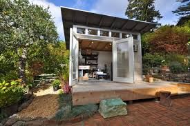 studio shed aims to upgrade the standard backyard shed from an afterthought to a livable space with all sorts of purposes offering three series of backyard office shed