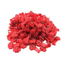 100 <b>Pcs</b> Red Solderless Wire Connectors 22-18 Gauge Double Run ...