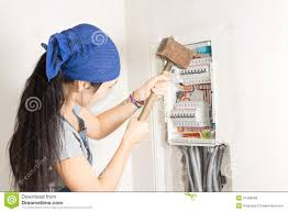 w taking aim at an electrical fuse box royalty stock w taking aim at an electrical fuse box