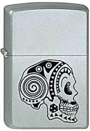<b>Зажигалка Zippo</b> Classic <b>205 Tattoo Skull</b> (серебристый)