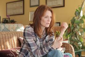 movie review julianne moore gives a raw singular performance in click to enlarge julianne moore is a college professor suffering from early onset alzheimer s disease in still alice