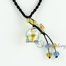 empty small glass vial necklace pendants vintage perfume bottle pendant necklace wholesale supplier italian murano glass blown glass bottle pendant