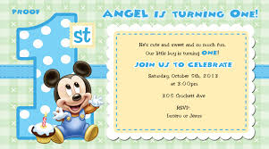 mickey mouse 1st birthday invitations for girls and boys party baby mickey mouse 1st birthday invitation