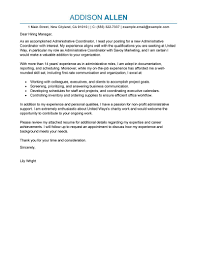 best administrative coordinator cover letter examples sample best administrative coordinator cover letter examples sample application for assistant administration office support professional