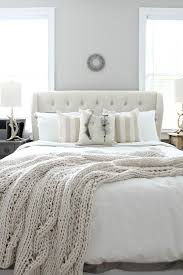 beautiful guest room with neutral colors at refreshrestylecom bedroom white