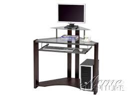 amazoncom glass top corner computer desk w monitor stand ac 010114 office desks office products black glass top corner