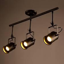 industrial loft black monorail spot light led semi flush mount ceiling mounted spot lighting
