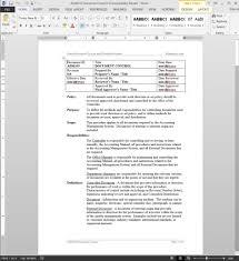 hr document management procedure adm103 hr document control procedure