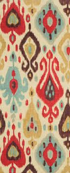 ikat decor red blue and brown ikat fabric richloom django persia fabric  per yard