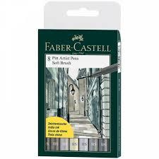 <b>Набор капиллярных</b> ручек <b>Faber</b>-<b>Castell</b> Pitt Artist Pen Soft Brush ...